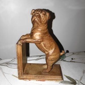 Pug Dog Puppy Bookend Book Stopper
